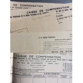 Caisse De Compensation Des Propri�taires De La R�gion Parisienne (Gens De Maison) : 8 D�comptes De Cotisation, De 1943 � 1946