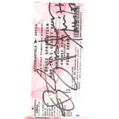 Autographe Bruce Springsteen D�dicace Bruce Springsteen Sur Billet Concert