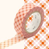 Rouleau 15mm X 10m Motif Points Rouge / Oboro Dot Fire - Masking Tape