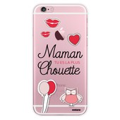 Coque Rigide Transparent Maman Tu Es La Plus Chouette Pour Iphone 6 / 6s