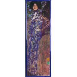 Poster Reproduction Encadr�: Gustav Klimt - Emilie Fl�ge, 1902 (91x30 Cm), Cadre Plastique, Bleu