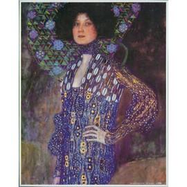 Poster Reproduction Encadr�: Gustav Klimt - Emilie Fl�ge, 1902 (50x40 Cm), Cadre Plastique, Blanc