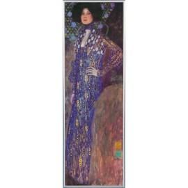 Poster Reproduction Encadr�: Gustav Klimt - Emilie Fl�ge, 1902 (91x30 Cm), Cadre Plastique, Argent