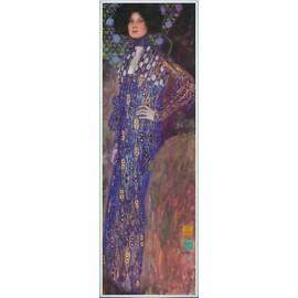 Poster Reproduction Encadr�: Gustav Klimt - Emilie Fl�ge, 1902 (91x30 Cm), Cadre Plastique, Blanc