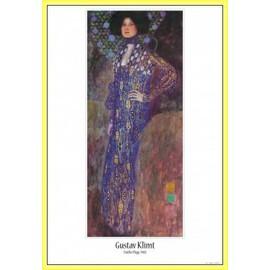 Poster Encadr�: Gustav Klimt - Emilie Fl�ge, 1902 (91x61 Cm), Cadre Plastique, Jaune