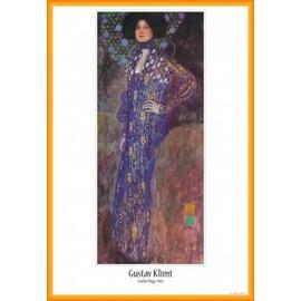 Poster Encadr�: Gustav Klimt - Emilie Fl�ge, 1902 (91x61 Cm), Cadre Plastique, Orange