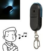 Led Porte Cl� Localisateur Alarme Lampe Anti-Perte Portefeuille Siffleur Bleu