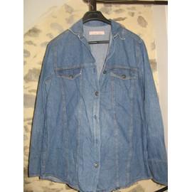 Chemise C Est Pour Quand ? Veste Jean Coton 42/44 Bleu