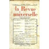 La Revue Universelle Nouvelle Serie N�33 - Jacques Brenet. Economie M�di�vale Et Corporatisme. I. Jacques Bardoux De L�Institut. De William Pitt � Winston Churchill. Michel Mohrt.. Flaubert ...