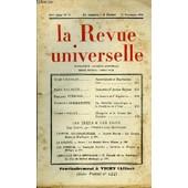 La Revue Universelle Nouvelle Serie N�22 - Ren� Gillouin. Souverainet� Et Repr�sentation. Emile Raumann. Souvenirs D�Ancien R�gimephilippe Verdier. La Guerre De Vangleterre..Maurice ...