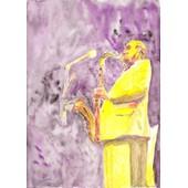 Aquarelle Saxophoniste