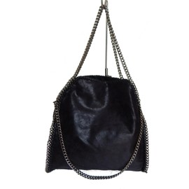 Sac � Main Lili'shop Selections Chaines Noir Daim Noir