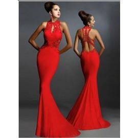 Mode F�minine Robe Sans Manches De La Hanche Jupe En Queue De Poisson Sexy Package Soir�e Couture Decal Mince