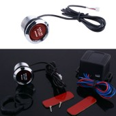 Bouton De D�marrage Auto Voiture Led Lumi�re Rouge Syst�me D'entr�e Sans Cl� Universelle �clairage Engine Ignition Kit