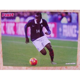 Football Poster Blaise Matuidi Equipe De France 2016 42cm/58cm Verso Lassana Diarra Olympique De Marseille