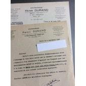 Entreprise Henri Durand, Paris : 2 Lettres, 1949