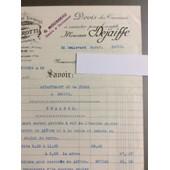 J. Perotti, Peinture-Vitrerie, Paris : 1 Devis, 1935