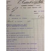 E. Carret & Ses Fils, Chauffage-Fumisterie, Paris : 1 Lettre, 1945