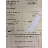 �tablissements Boeringer - L. Guedenet & Cie, Paris : 2 Lettres, 1939/51