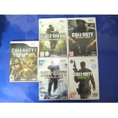 Call Of Duty 3 - En Marche Vers Paris + World At War + 4 - Modern Warfare + Modern Warfare 3 + Black Ops Pour Console De Jeu Nintendo Wii