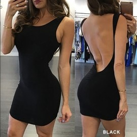 �t� Manches Bandage Bodycon Party Backless Soir�e Cocktail New Women Sexy Mini Dress