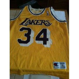 Maillot Champion U.S.A Shaquille O'neal Los Angeles Lakers #34 Taille L