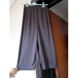 Pantalon Marron L�ger, Fluide, Fin, Jambes Larges, Tr�s Doux, T. 36 Ou Petit 38 (Lire Mesures)