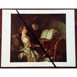 Reproduction Polychrome D'une Gravure 21x27 Reproduisant Un Tableau De Fragonard :