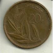 20 Francs Baudouin 1er En N�erlendais 1981