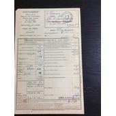 Avertissement D�livr� Par Le Directeur Des Contributions Directes, Ville De Paris, 1946