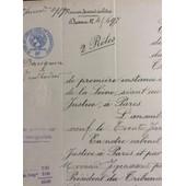 Extrait Des Minutes Du Greffe Du Tribunal Civil, Paris, 1939, 4 Pages