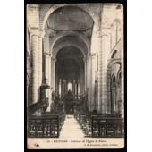 Carte Postale Ancienne, France, Vienne ( 86 ), Poitiers, Int�rieur De L'�glise Saint Hilaire