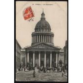 Carte Postale Ancienne, France, Paris (75 ), Le Panth�on, Rue Anim�e