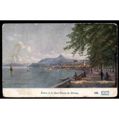 Carte Postale Ancienne, France, Haute Savoie ( 74 ), �vian, Le Quai Baron De Blonay
