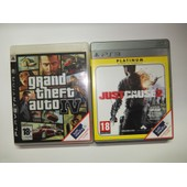 Grand Theft Auto Iv (Gta 4) + Just Cause 2 Pour Console Ps3 Playstation 3