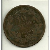 Pi�ce De 10 Centimes Guillaume Ill 1855 Luxembourg