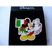 Pins Disneyland Paris Mickey Ciao Drapeau Italie Spaghetti