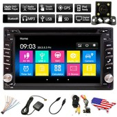 6.2'' 2din Ecran Tactile Gps Bluetooth Voiture St�r�o Autoradio Cam�ra Tv Usb Mp3 Dvd Cd Hd Sd Fm