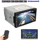7'' 2 Din Ecran Tactile Bluetooth Gps Navigation St�r�o Autoradio Voiture Usb Mp5 Mp4 Aux Dvd Cd Fm