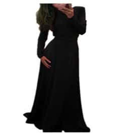 Maxi Robe Longue Cocktail Sexy Femmes Manche Longue