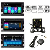 Bluetooth Gps Hd Ecran Tactile Autoradio St�r�o Dvd Mp3 Am Fm Usb Sd Tv+Cam�ra 2 Din 6.2''