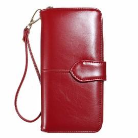 Portefeuille Pu Cuir Zipp� Portable Porte-Monnaie Carte Bourse Poche Sac Femme