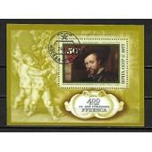 Russie 1977 : 400� Anniversaire De La Naissance De Pierre Rubens : Tableau De Van Dyck : Portrait De Rubens - Bloc-Feuillet 50 K. Oblit�r�