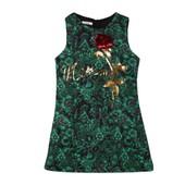 Vktech� Fille Girl Robe D��t� �l�gante En Broderie Rose Pour Soir�e Party C�r�monie Vert