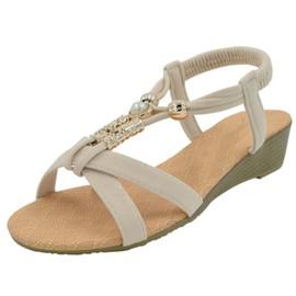 Chaussure Femme Sandales Compens�es Perl�