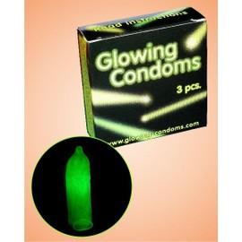 Pr�servatifs Phosphorescents Glowing Condoms