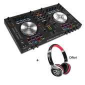 Pack DENON DJ MC4000 - Contr�leur 2 voies + carte son + Casque Offert