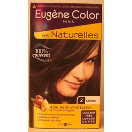 Eug�ne Color - Les Naturelles - N�2 Chatain - Cr�me Colorante Permanente - Soin Nutri-Protecteur