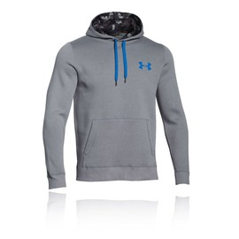 Under Armour Rival Hommes Gris Running Hoody Sweat � Capuche Hoodie Haut Top
