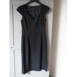 Robe Zara Polyester 38 Noir